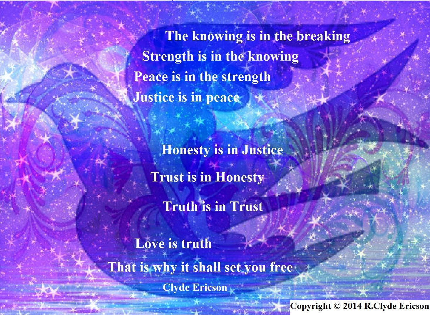 A Journey from Knowledge to Freedom – by Clyde Ericson   The